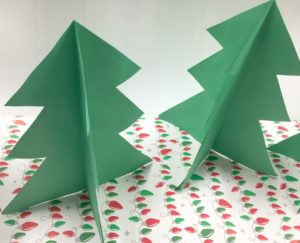 self standing paper trees - Christmas Classroom Decorations